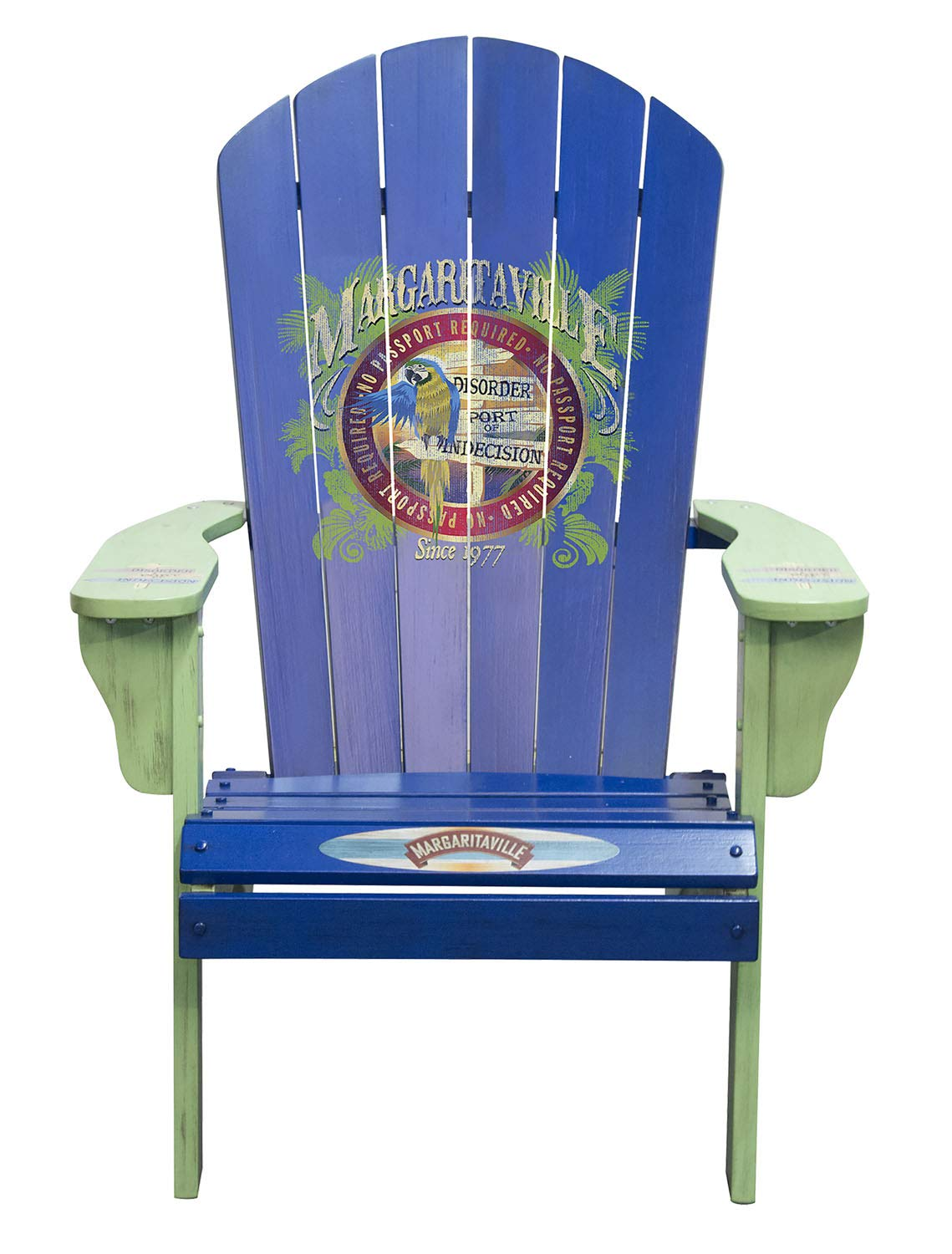 Margaritaville Port of Indecision Painted Wood Patio Adirondack Chair